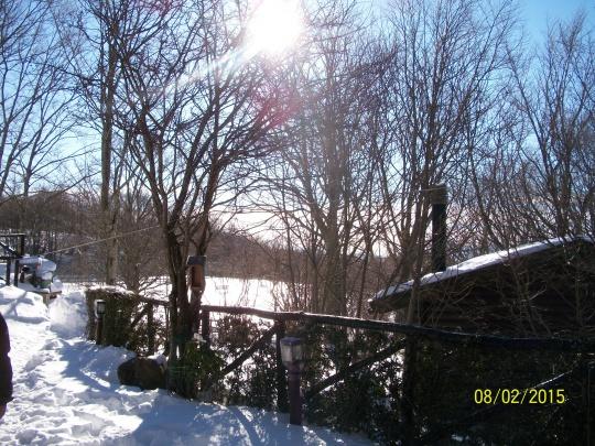 Sole e neve. Spettacolare.